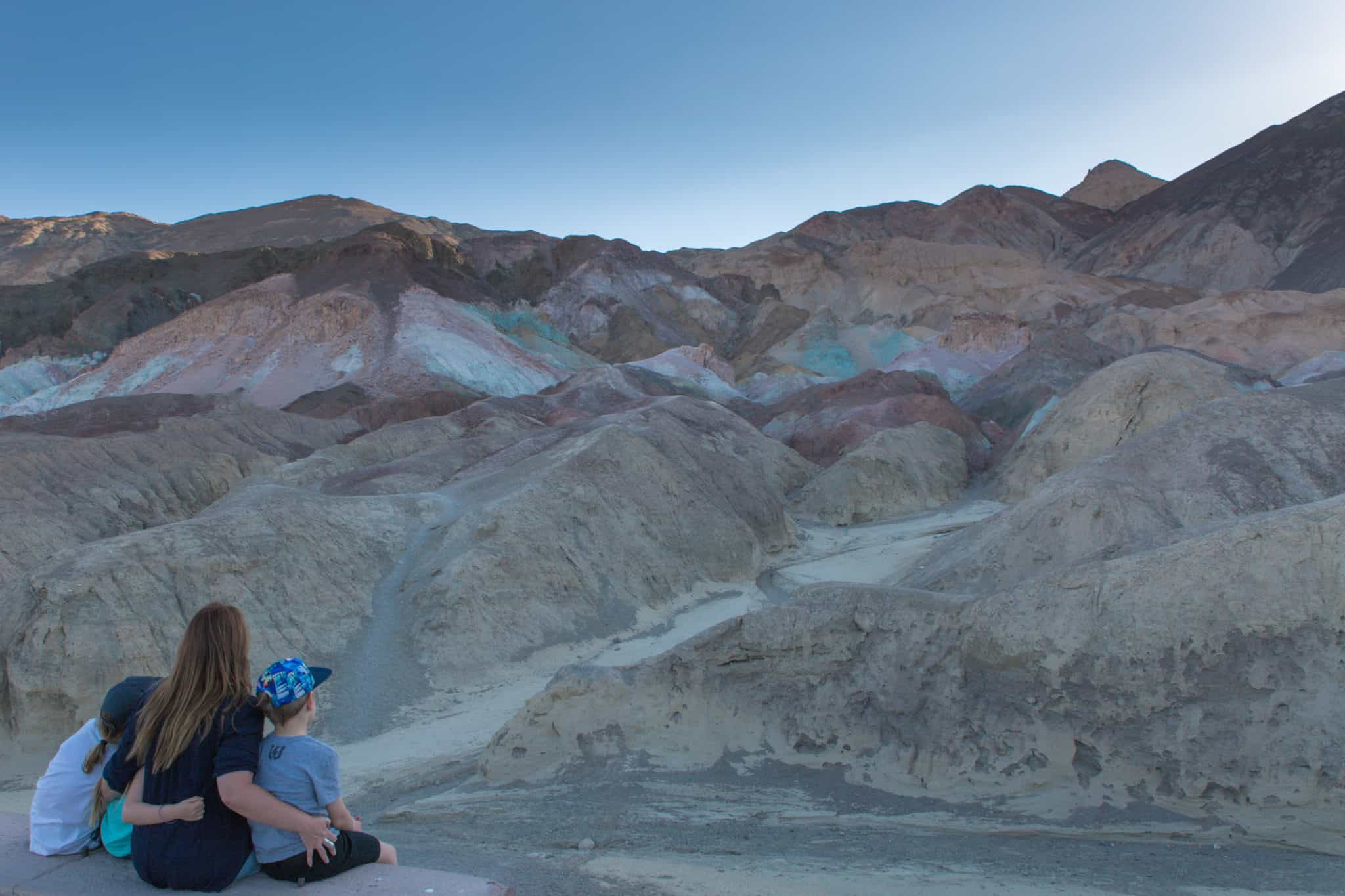 TravelwithMeraki- Travel with kids - Artists Palette- Death Valley - California - USA
