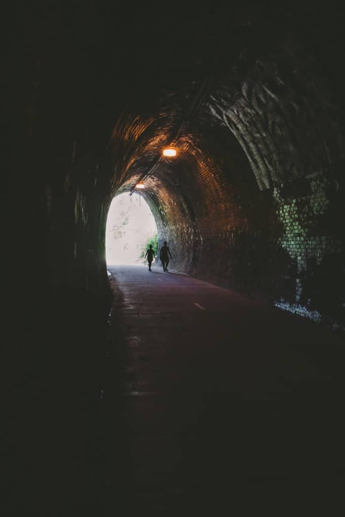 Fernleigh Tunnel on the Fernleigh Track, NSW Australia
