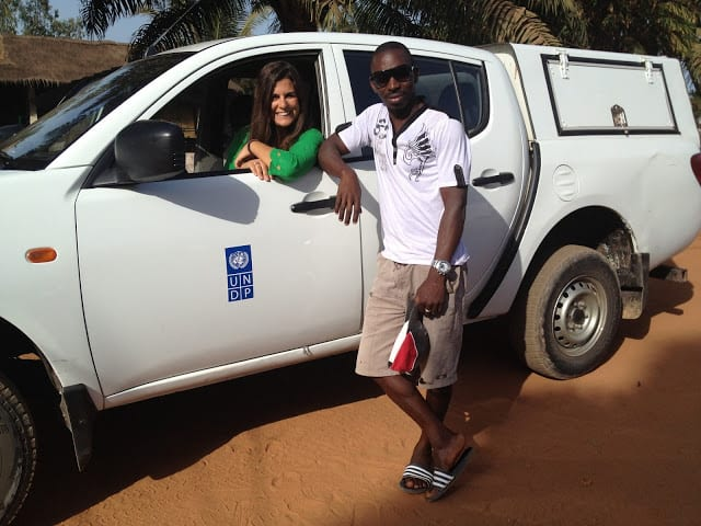 Sonia and a colleague in Guinea Bissau