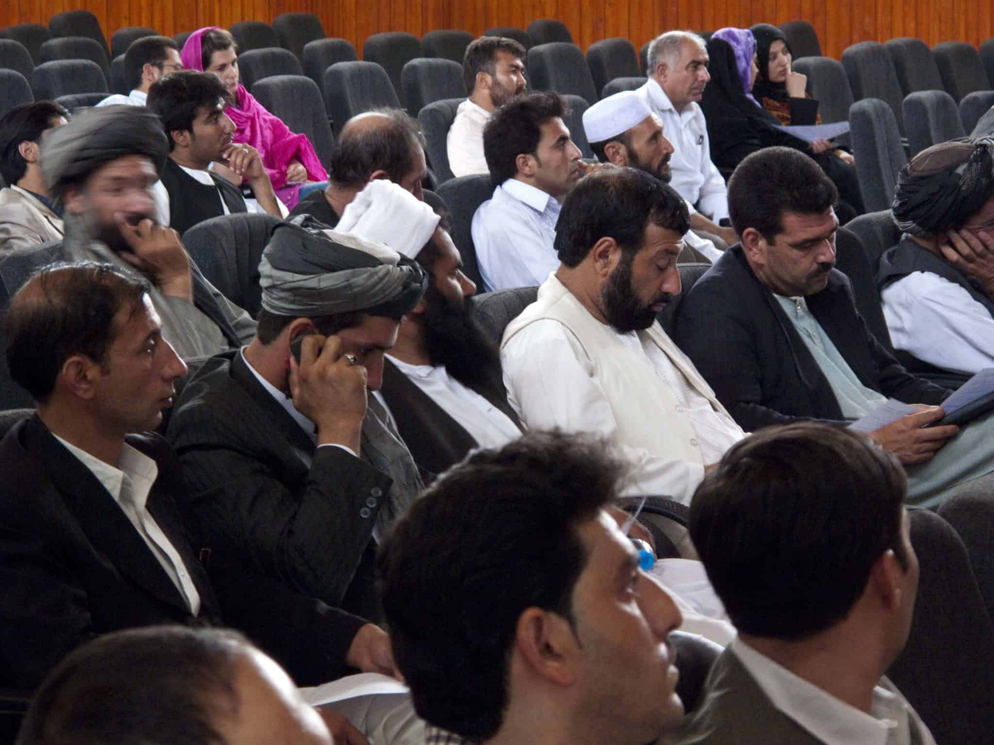 Sonia during a UNDP held meeting in Herat, Afghanistan with local candidates.