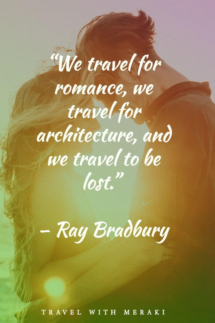 Romance quote about travel