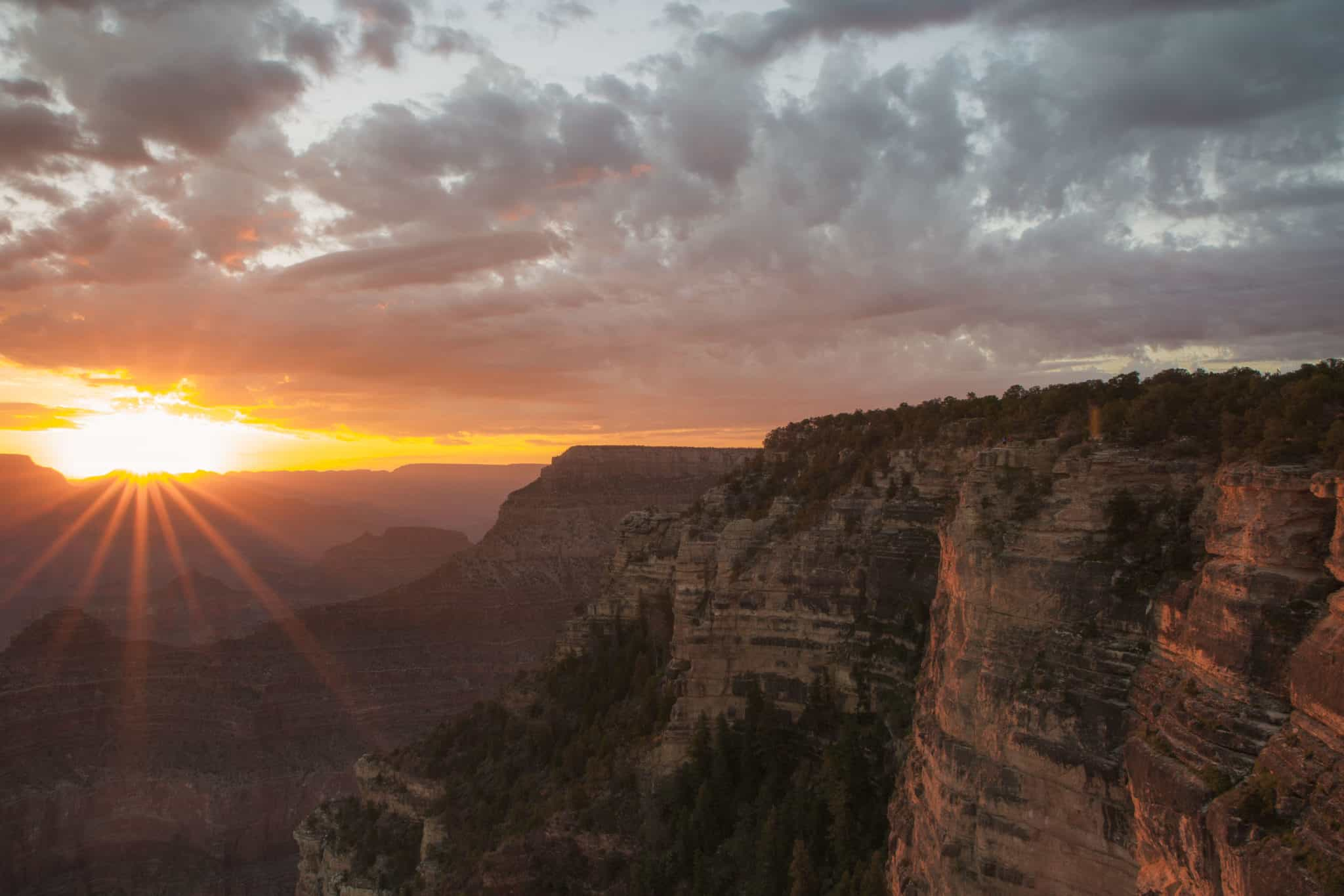 Sunrise over The Grand Canyon, Arizona, USA