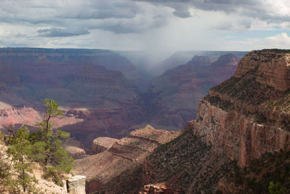 Grand Canyon Raining
