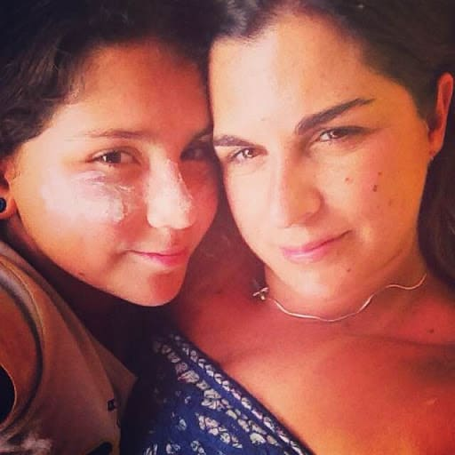 Sonia and her daughter in Brazil.