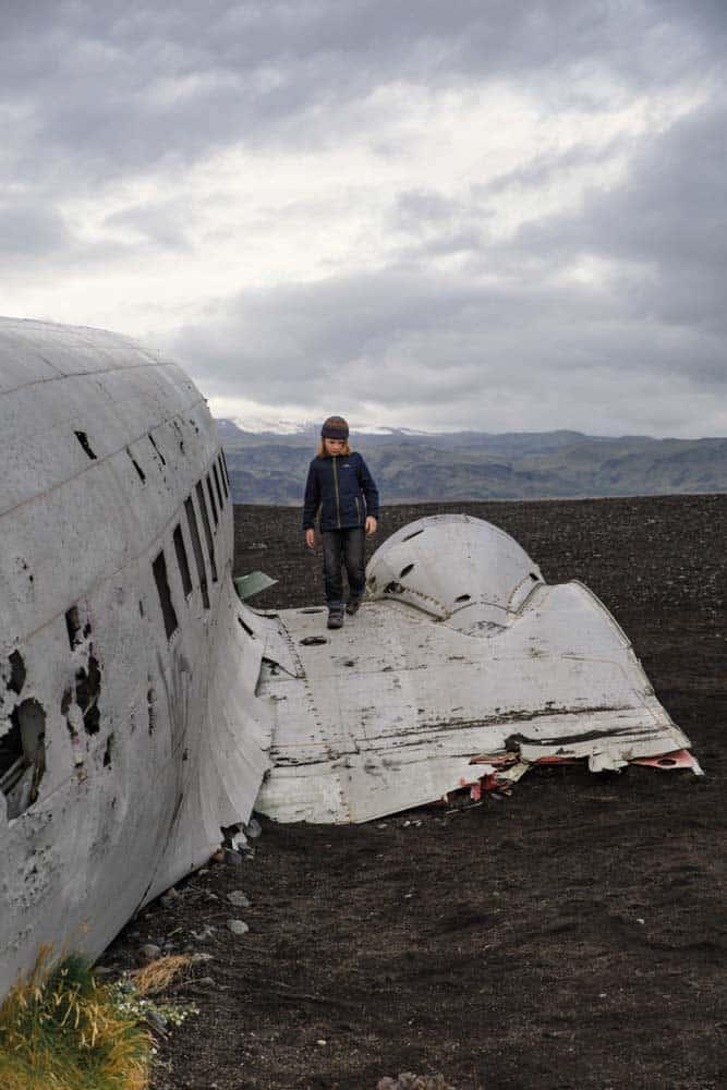 Beach plane crash Iceland