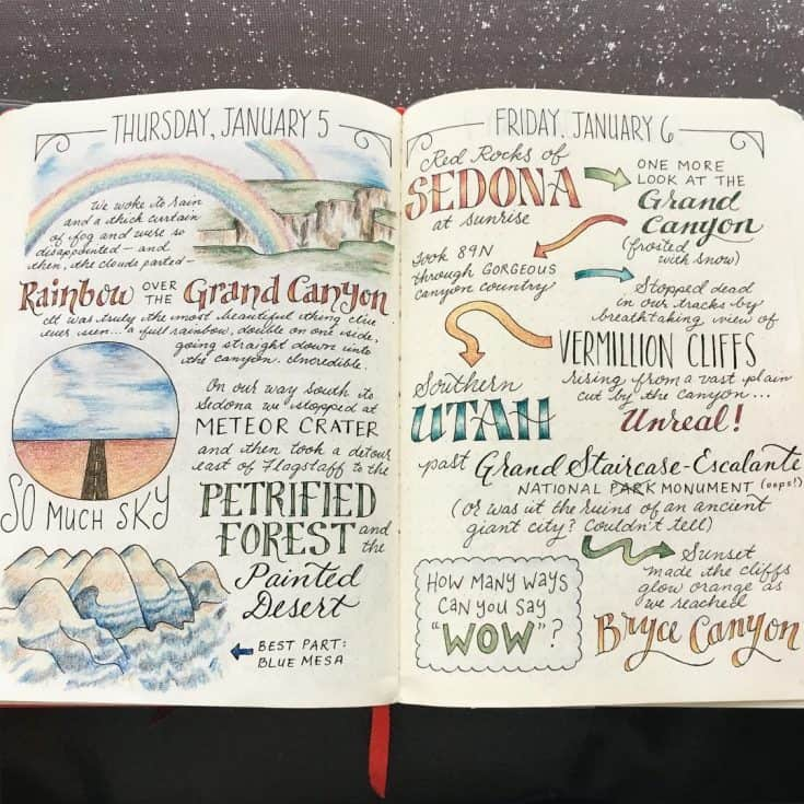 Pretty Travel Journal
