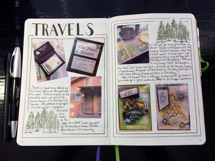 Beautiful Bullet Journal Travel Spread