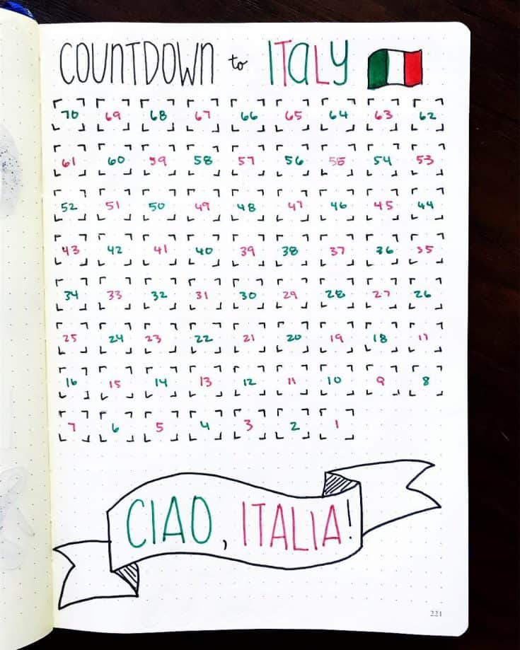 Travel countdown idea
