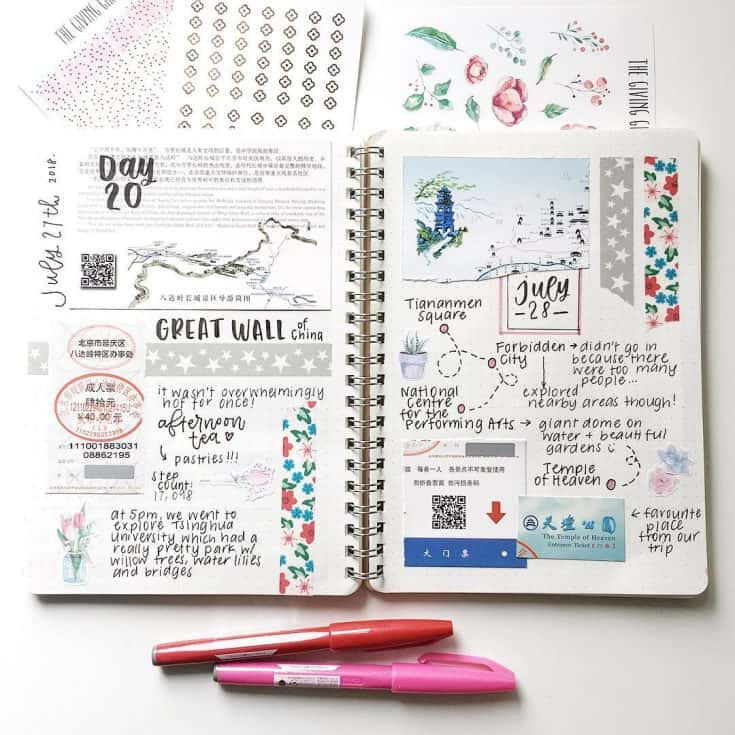 Travel Bujo Ideas
