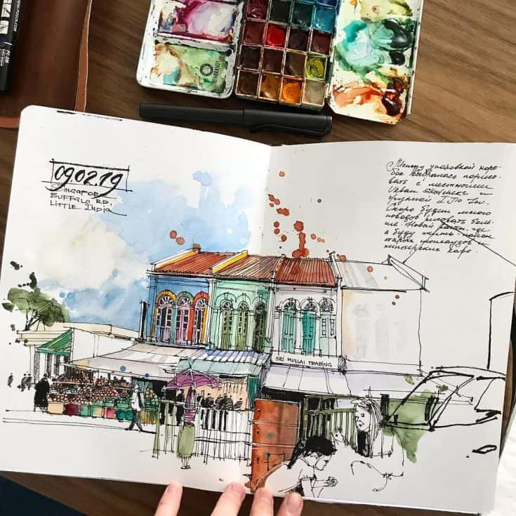 Travel Journal Paintings