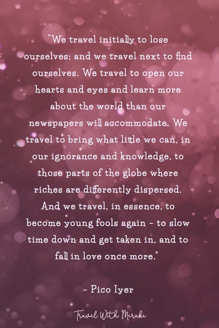 Beautiful travel quote