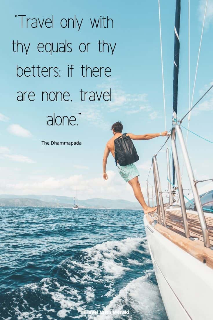 Travel alone quote