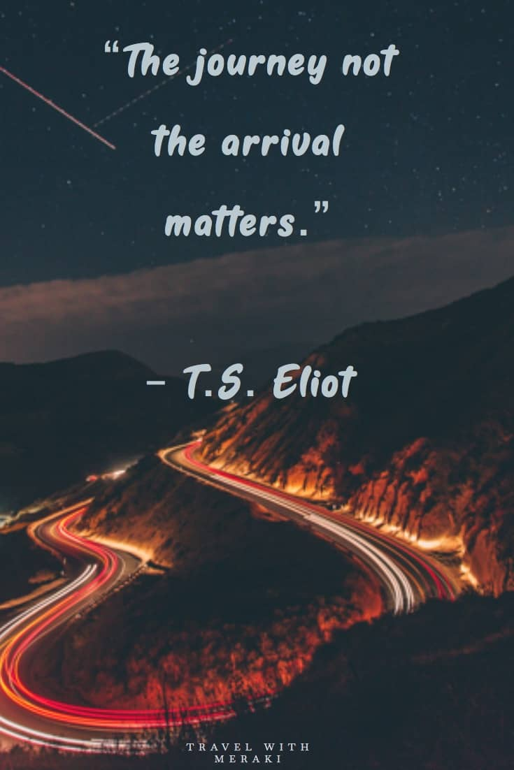 TS Eliot Quote about travel
