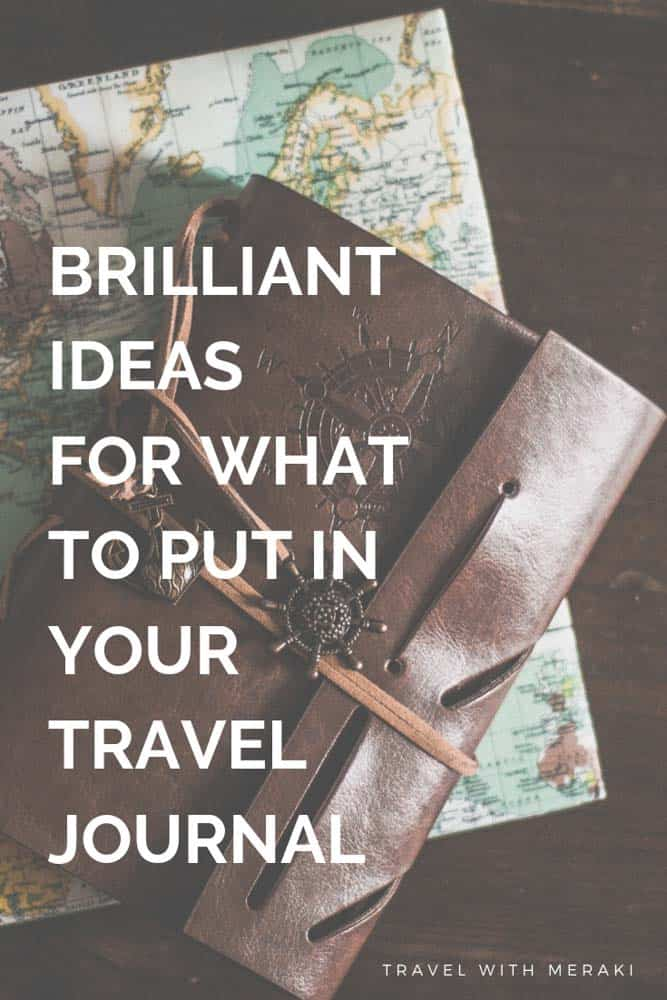 No idea waht to put in your travel journal? Find all the things that will make your travel journal brilliant. From vacation countdown ideas, travel savings, travel itinerary ideas and lots more. #traveljournal #traveljournalideas #traveljournaldiy #traveljournalinspiration #travelbulletjournal