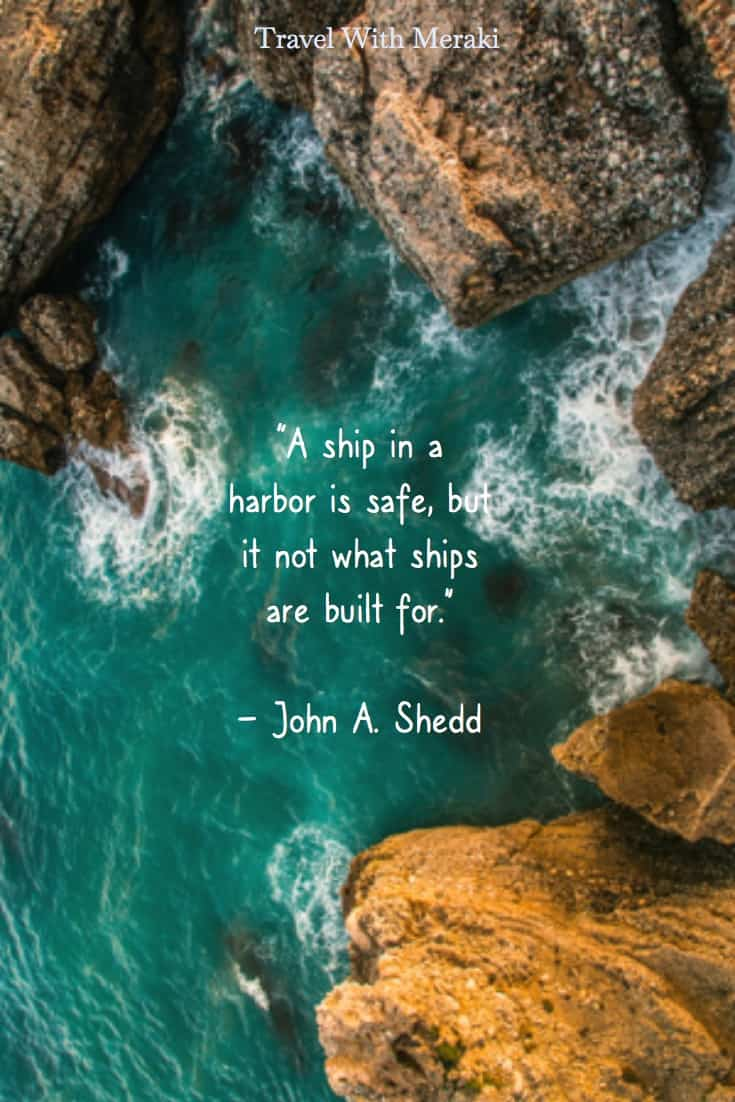 ship in harbour quote
