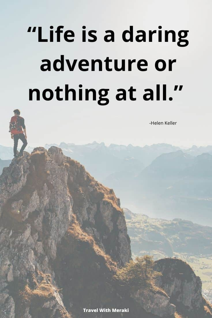 Helen Keller Adventure Quote