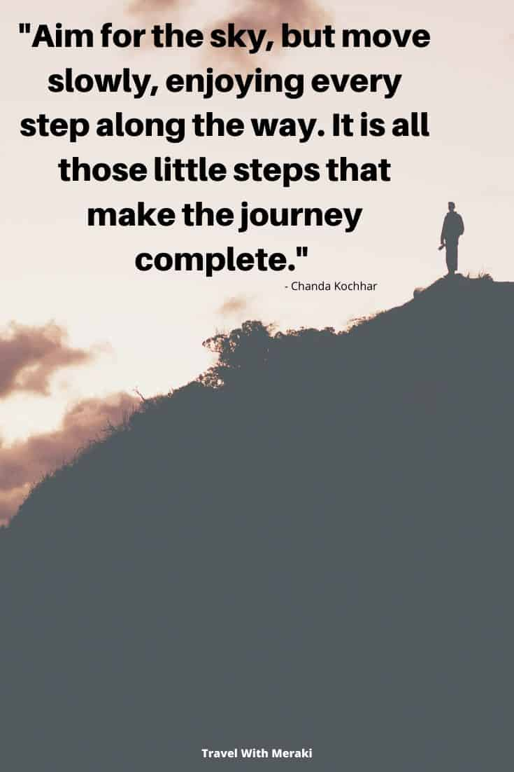 Quote about steps and journey