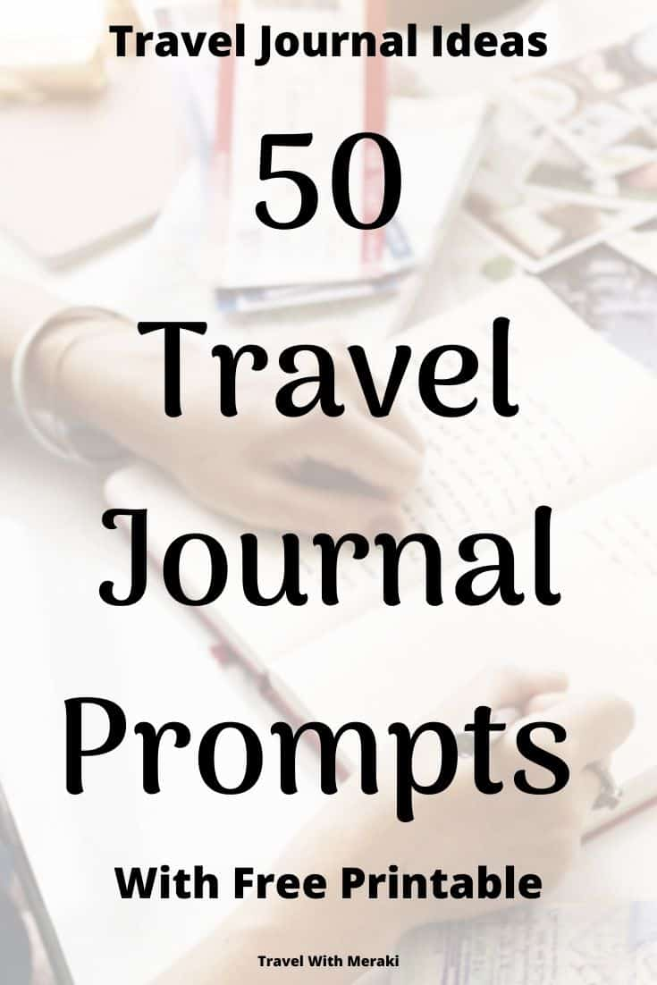 Prompts For Travel Diary