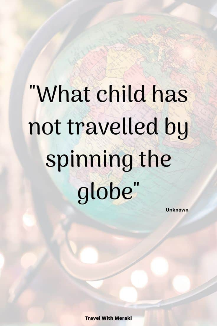 Quote about kids and travel