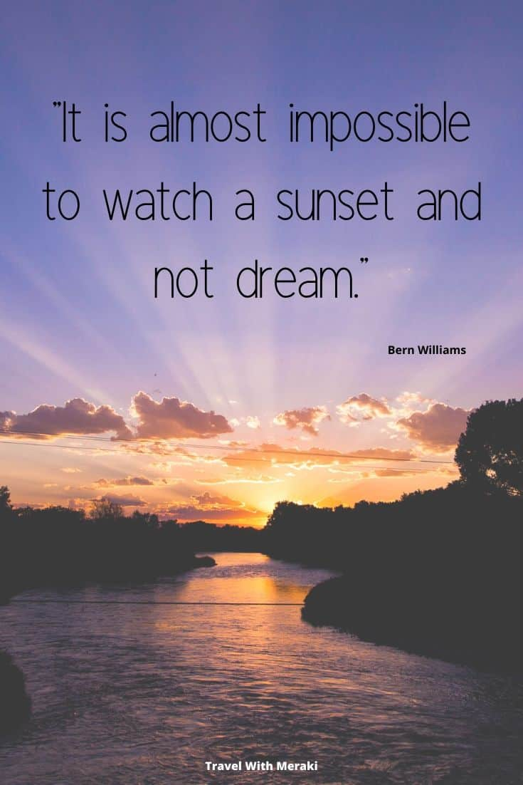 quote about watching sunset