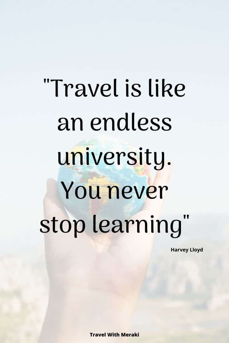 Learn with travel