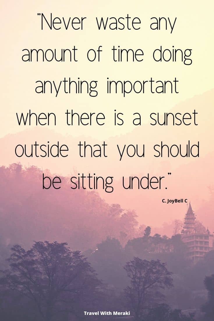 Sayings about sunset