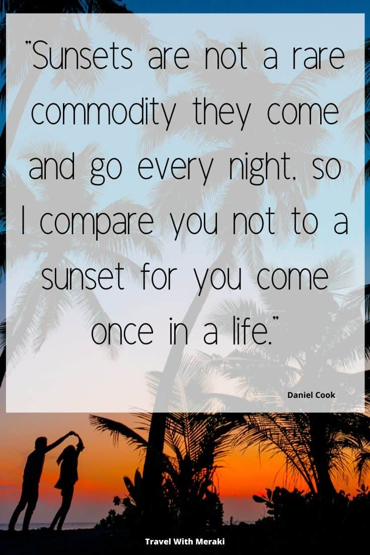Quote about sunset
