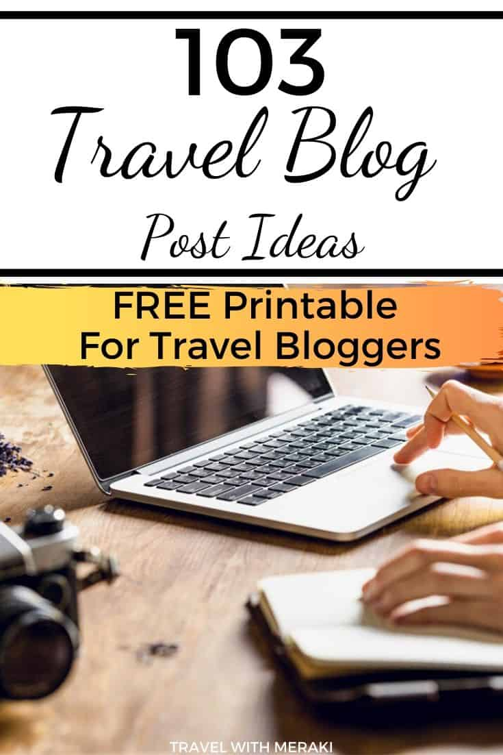 Travel Blogging Ideas