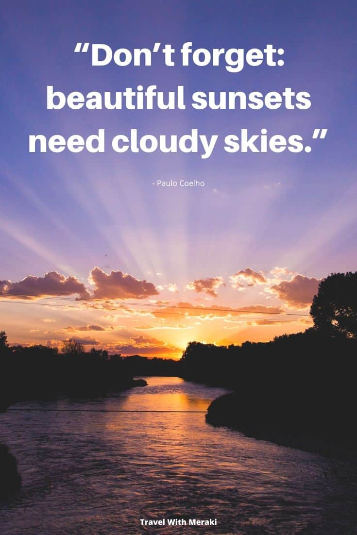 Quote By Coelho about Sunset